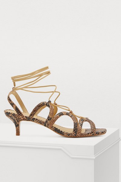 Zimmermann Lace-up sandals in natural snake