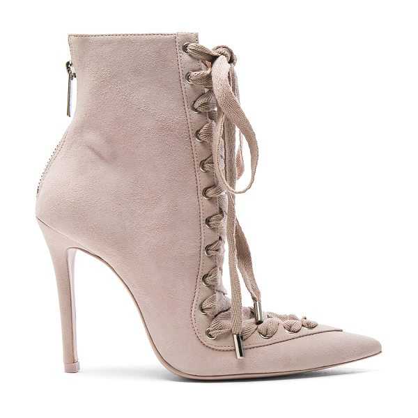 Zimmermann Lace Up Suede Ankle Boots in neutrals,pink - Suede upper with leather sole.  Made in Brazil.  Shaft...