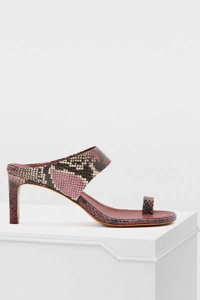 Zimmermann Leather sandals in burgundy python