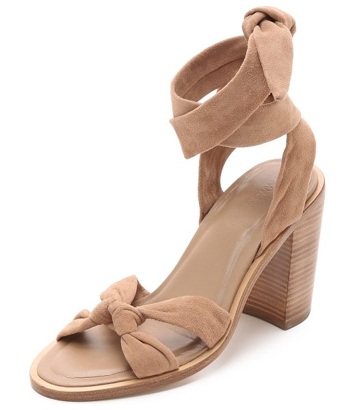 Zimmermann Loop knot ankle tie heels in nude - Supple straps knot over the toe and wrap around the...