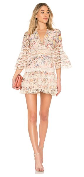 Zimmermann Lovelorn Floral Flutter Dress in pink - Zimmermann?s Lovelorn Floral Flutter Dress is a flirty...