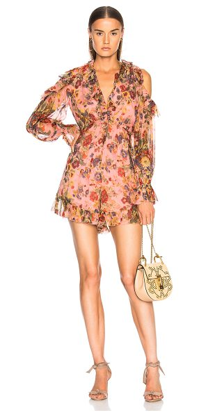 ZIMMERMANN Lovelorn Frill Playsuit - Self: 100% silk - Lining: 100% poly.  Made in China. ...
