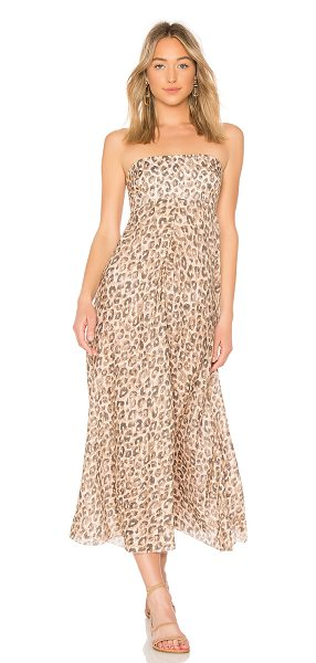 ZIMMERMANN Melody Strapless Maxi Dress in brown - 100% linen. Hand wash cold. Partially lined. Detachable...