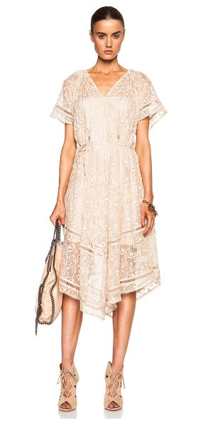 ZIMMERMANN Nightmarch vine dress - Self: 100% silk - Contrast Fabric: 100% cotton.  Made in...