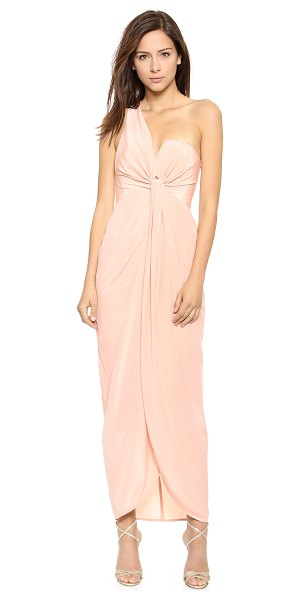Zimmermann One shoulder knot gown in champagne - This one shoulder Zimmermann gown is detailed with a...