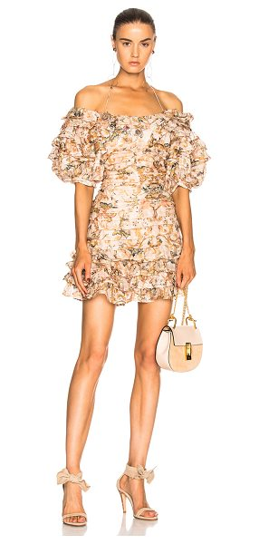 Zimmermann Painted Heart Folds Dress in pink,floral