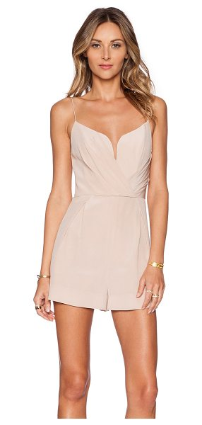 ZIMMERMANN Plunge romper - Silk blend. Dry clean only. V-wire center front. Pleated...