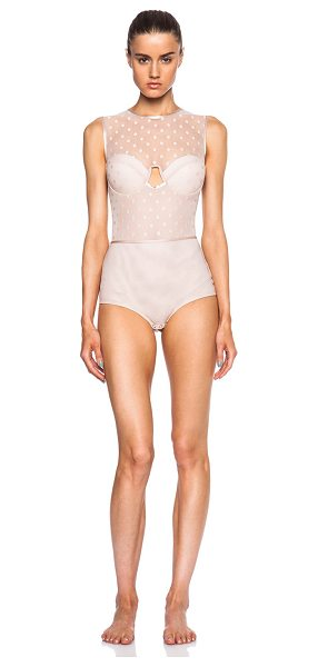 Zimmermann Seer floating bra bodysuit in neutrals