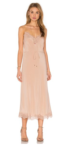 Zimmermann Silk Lace Slip in blush - Main: 100% silkContrast: 35% cotton 35% nylon 30%...