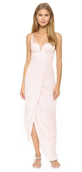 Zimmermann Silk lace underwire dress in blush