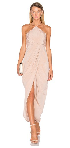 Zimmermann Silk Tuck Long Dress in blush - The grace of a Grecian goddess for the present-day....