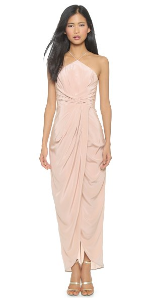 Zimmermann Silk tuck long dress in sunstone - Allover pleating lends appealing texture to this...