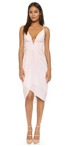 ZIMMERMANN Silk v tuck dress - A deep, structured notch cuts a plunging V through the...