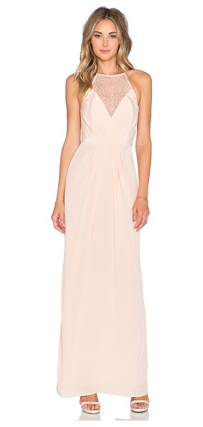 Zimmermann Silk web maxi dress in peach - Self: 100% silkCombo: 55% viscose 45% polyamideLining:...