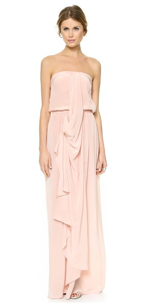 ZIMMERMANN strapless draped maxi dress - NOTE: Zimmermann uses special sizing. A gentle cascading...