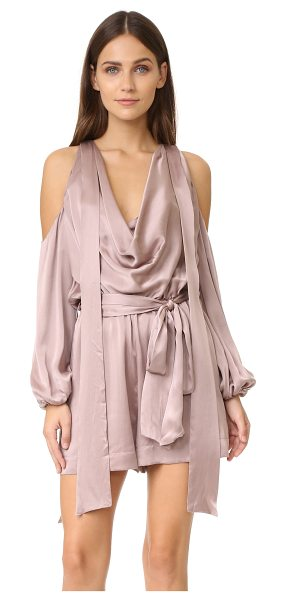 Zimmermann sueded billow playsuit in mink - Description NOTE: Zimmermann uses special sizing. Please...