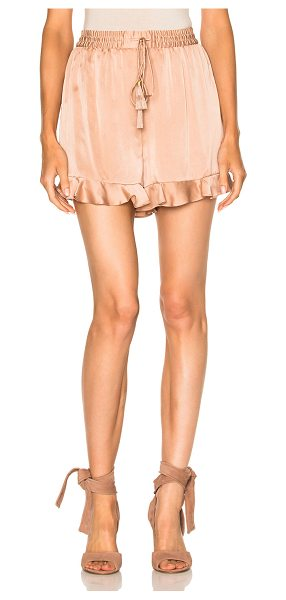 Zimmermann Sueded Flutter Short in nude - Self: 100% silkLining: 100% poly. Made in China. Dry...