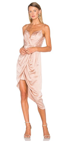 Zimmermann Sueded Silk Plunge Short Dress in blush - Ethereal and alluring, the Sueded Silk Plunge Short...