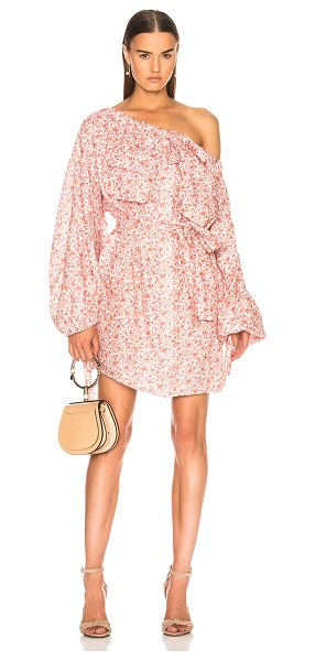 Zimmermann Sunny Skater Shirt Dress in pink - 100% linen.  Made in China.  Dry clean only.  Unlined. ...