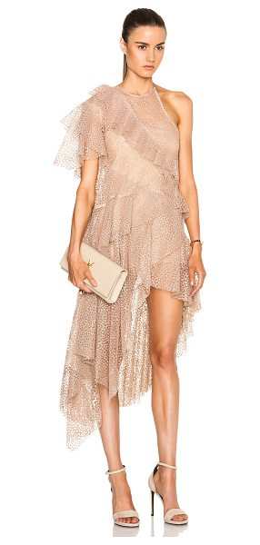 Zimmermann Tarot glimmer flounce dress in neutrals,metallics