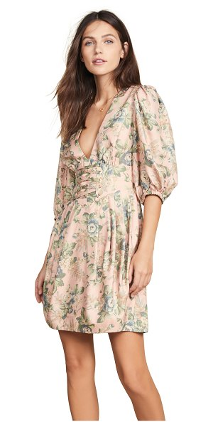 Zimmermann tempest lace up dress in rouge desert rose
