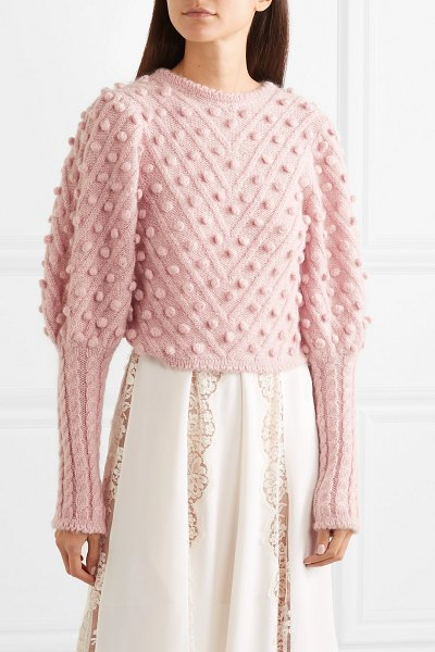 Zimmermann unbridled cable-knit sweater in pink - Zimmermann is so good at making retro designs look...