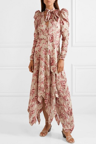Zimmermann unbridled chiffon-paneled floral-print silk-blend dress in antique rose - Zimmermann's Fall '18 presentation was full of the...