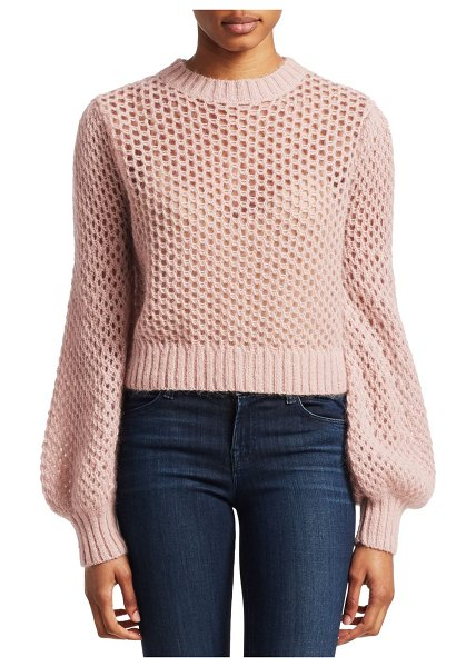 Zimmermann unbridled mohair-blend crop sweater in rose - From the Saks It List: Pastels. From the Unbridled...