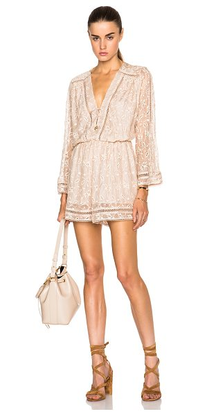 Zimmermann Vine playsuit in neutrals - Self: 100% silk - Lining: 100% poly - Contrast Fabric:...