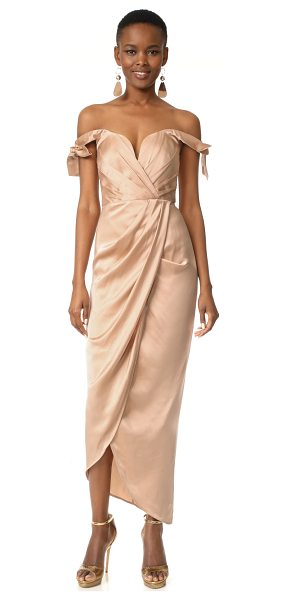 ZIMMERMANN winsome drape cocktail midi dress in nude - NOTE: Zimmermann uses special sizing. An elegant silk...