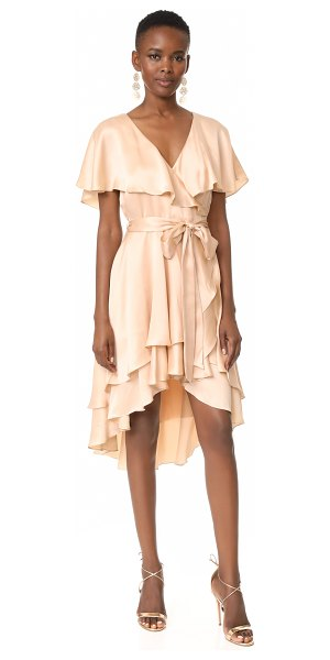 Zimmermann wrap dress in peach