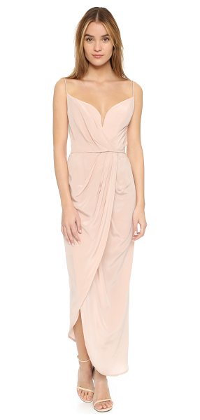 Zimmermann Silk Plunge Drape Long Dress in sunstone - Description NOTE: Zimmermann uses special sizing. Please...