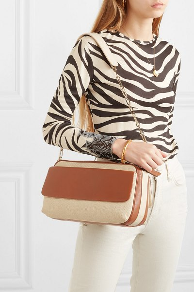 ZOOBEETLE Paris pantheon leather and canvas shoulder bag in tan - Elsa Lepeu and Johanna El Iman both have a passion for...