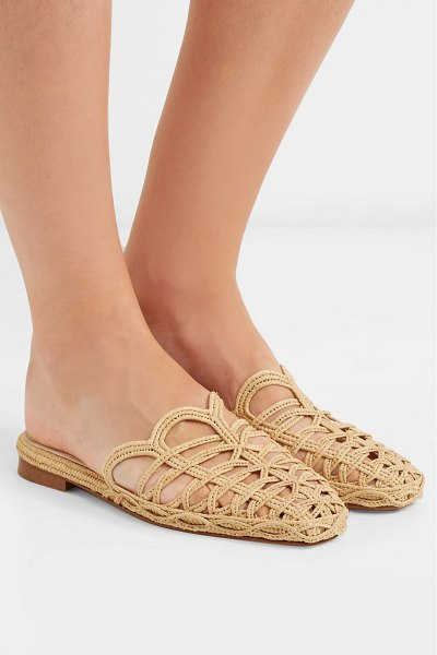 ZYNE raffy iv woven raffia slippers in neutral - EXCLUSIVE AT NET-A-PORTER.COM. Each pair of ZYNE's...