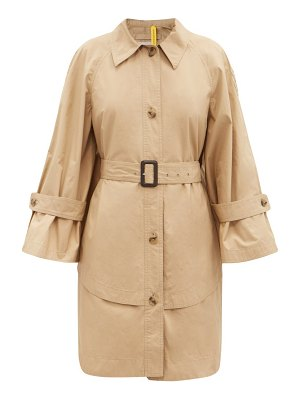 1 MONCLER JW ANDERSON dungeness layered-hem cotton trench coat
