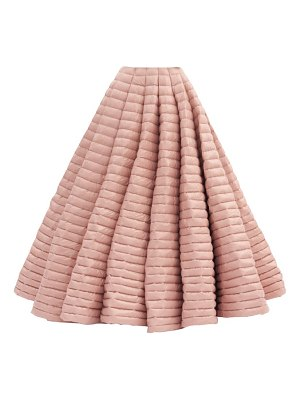 1 Moncler Pierpaolo Piccioli pleated lacquered down-filled maxi skirt