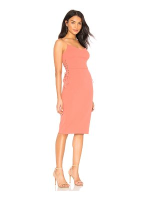 1. STATE Lace Up Slip Midi Dress