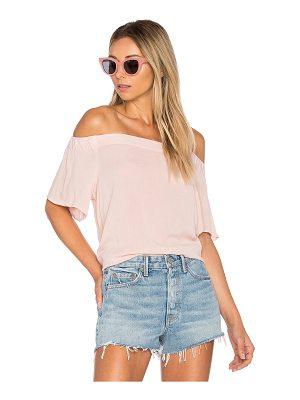 1. STATE Off Shoulder Flounce Sleeve Top