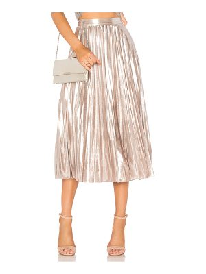 1. STATE Pleated Midi Skirt