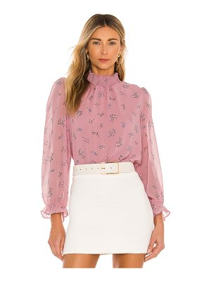 1. STATE smocked neck top