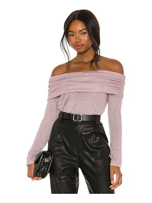 1. STATE sparkle cozy knit off shoulder sweater