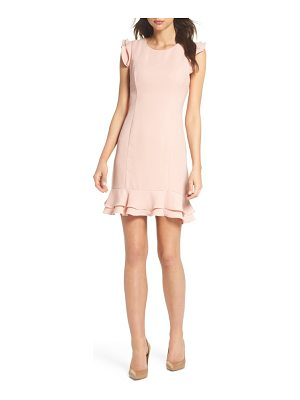 19 COOPER Ruffle Hem Sheath Dress