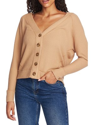 1.State button front crop cardigan