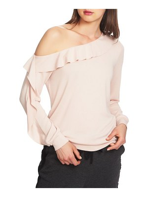 1.State cozy one-shoulder ruffle top