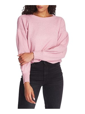 1.State crewneck blouson sleeve cotton blend sweater