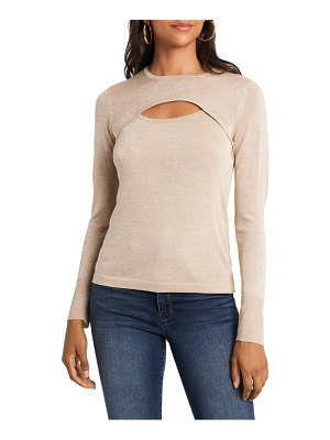 1.State cutout sweater