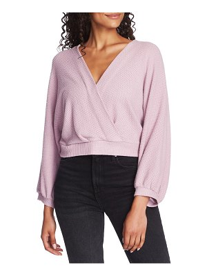 1.State faux wrap sweater