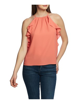 1.State flounce edge halter neck top