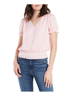 1.State smocked hem top