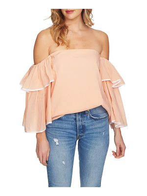 1.STATE Tiered Sleeve Off The Shoulder Top
